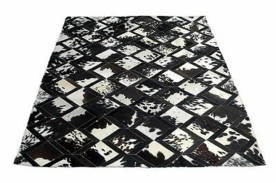 NEW COWHIDE PATCHWORK RUG Area Rug Cow Skin Hide Carpet 6x4 feet Leather MB-1003