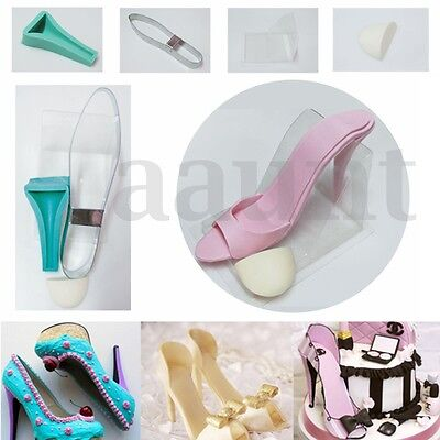 3D High Heel Shoe Kit Silicone Fondant Mould DIY Cake Decorating Template Mold