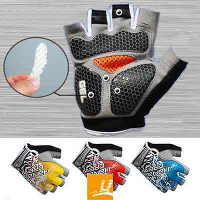 Cycling Half Finger fingerless Gloves For Mountain Road Riding Comfortable M-XL