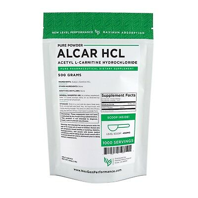 ACETYL L-Carnitine ALCAR HCL Powder - Pure -PHARMACEUTICAL GRADE -All Variations