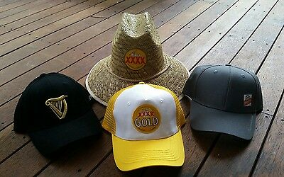 XXXX Beer Hat and Cap Set (XXXX, Guinness and Hahn)