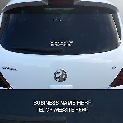 50 x rear window stickers personalised car sales vinyl decals for sale