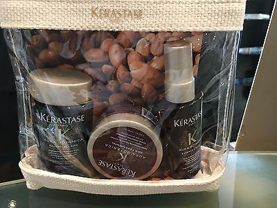 Kerastase Aura Botanica Travel Set(Bain 80ml, Sion 75ml & Essence D` Eclat 50ml)