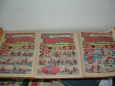17 Topper Comics 1984 Consecutive Issues Numbers 1614 - 1630