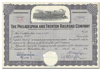 Philadelphia and Trenton Railroad Company Stock Certificate