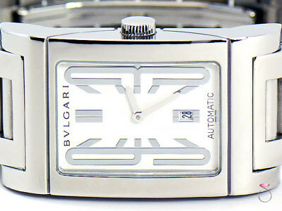 BVLGARI Rettangolo Stainless Steel Automatic Mens Watch. REF. RT45S SS