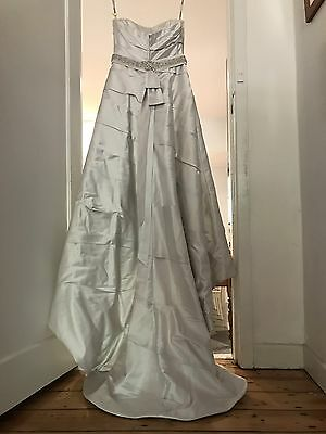 PRICE DROP Size 14 Silver Henry Roth Wedding Dress