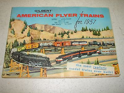 Vintage 1957 Gilbert American Flyer Trains catalog - Awesome hobby train item.