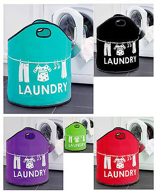 Laundry Bag Washing Basket Foldable Bag Hamper Storage Bin Clothes Holder New