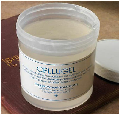 Cellugel Archival Quality Leather Book Preservation Gel For Dry Powdery Leather