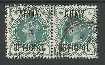 Sg042 The Victorian Halfpenny Green Army Official In A Fine Used Pair Cat £30+