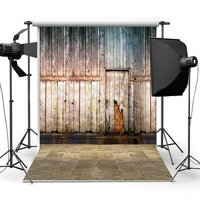 Photography Background - Wood Wall with Floor - Vintage Retro