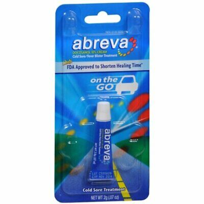 Abreva On The Go Cold Sore Treatment, Cream - .07 Ounce (Pack Of 6)