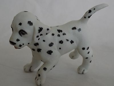 Vintage Hand Painted Dalmatian Puppy Running  Figurine Stamped Pg
