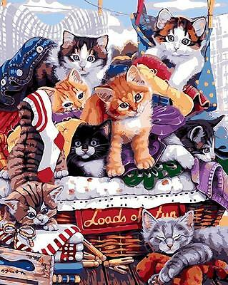 Paint By Number Kit On Canvas Paradise Of Cats DIY Painting PZ7034