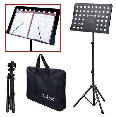 Adjustable Orchestral Conductor Sheet Music Tripod Stand Foldable w/ Tote Bag US
