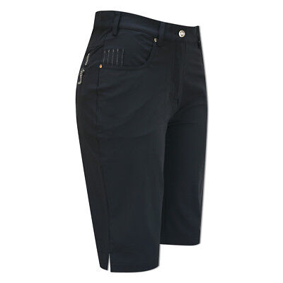 Glenmuir Straight Leg Shorts with 4-Way Stretch in Navy
