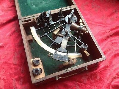 Early C Plath Ships Sextant In good Honest Condition In Its Original Box