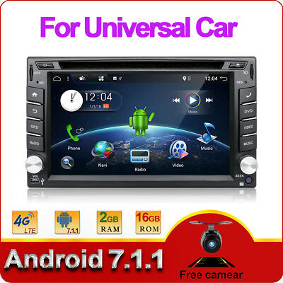 NEW Android6.0 4Core 2DIN Car Stereo DVD Player Radio GPS WIFI BT SWC 2G RAM