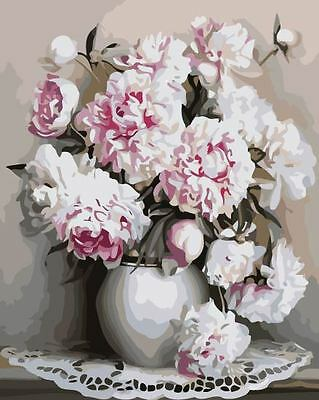 Paint By Number Kit Flower And Vase DIY Painting PZ7048