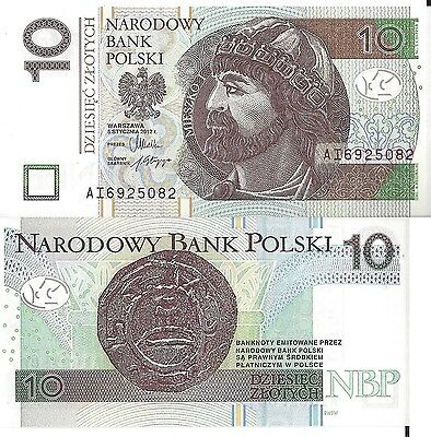 POLOGNE - 10 Zlotych 2012 - UNC