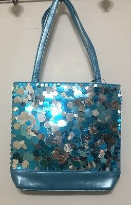 New Limited Too Blue & Silver Sequin Sparkle Purse Bag