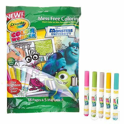New Crayola Color Wonder Monsters University Mess-Free Magic Colouring Official