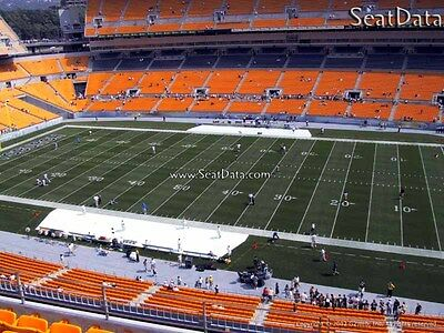(2) Steelers vs Packers Tickets 20 Yard line Upper Level Under Cover!!