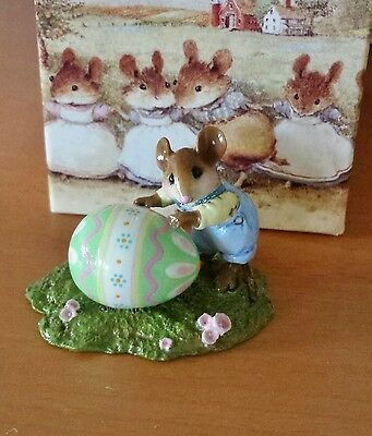 "Wee Forest Folk M-313s ""Egg Roll"" RETIRED  Mint"