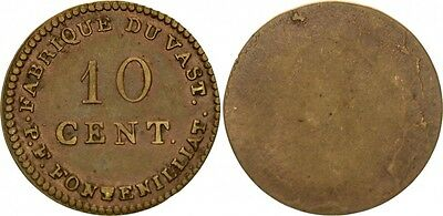 Frankreich 10 Cent, Fabrique du Vast - P. F. Fontenilliat - 1795