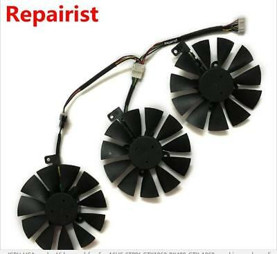 3 PcsT129215SU Cooling Fan for Video Card ASUS STRIX GTX980Ti/R9 390X/ R9 390