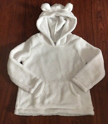 Carter's Toddler Girls Faux Fur Sweater Hoodie Size 4T Excellent Used Condition
