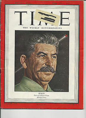 Vintage TIME Magazine February 1945 STALIN Facts are stubborn things