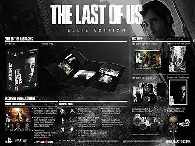 The Last Of Us - Edition Collector Ellie (PS3) - Brand New - Sealed Box