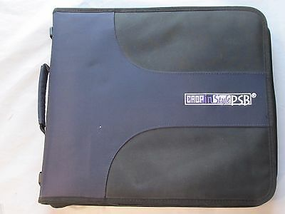 Crop in Style PSB Zipper Binder Scrapbook Organizer 200 Unbranded Page Protector