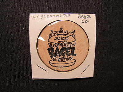 Bloomington, Illinois Wooden Nickel token - Bloomington Bagel Company Wood Coin