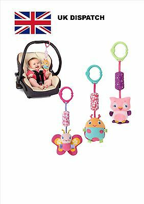 Infant Newborn Rattle Baby Pram toy Soft Hanging Toy Rattle Butterfly Beetle Owl