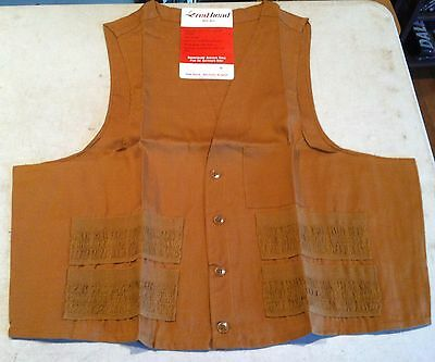 NEW OLD STOCK Vintage Red Head Lightweight 24 All Gauge Shotgun Shell Vest Sz-XL