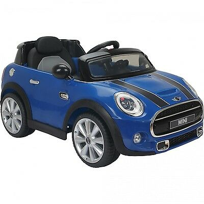 New Mini Cooper Licensed 12V Kids Ride On Electric Childs Car Twin Motor-Blue