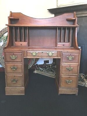 Old Desk/bureau Beautiful Item Made From Pine / Oak Collect From Loughton Essex