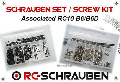 Screw Set for the Associated RC10 B6/B6D - Stainless Steel or Steel - ISK / IS