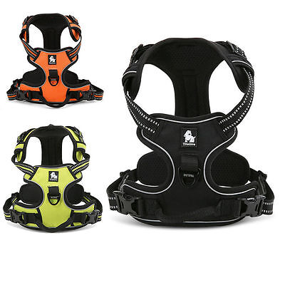 No-pull Dog Harness 3M Reflective Outdoor Adventure Pet Vest Padded Handle UK