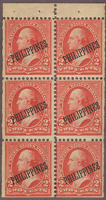 Philippines Sc. 214b Booklet Pane of 6,  MNH