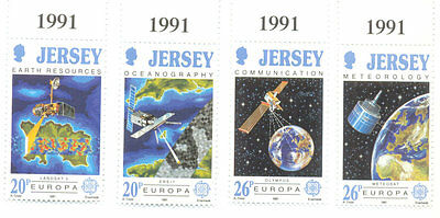 Space-Science Jersey mnh set 1991
