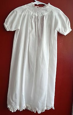 Vintage Edwardian Christening Gown Sweet Pristine Cotton Lace Embroidery Infant