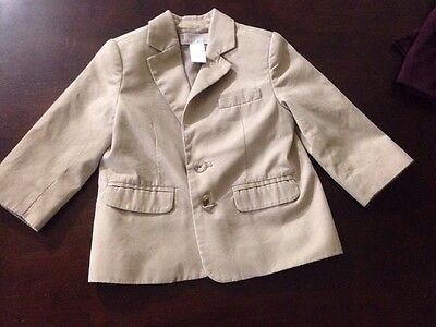Janie And Jack Beige Blazer 12-18 Months No Flaws Special Occasion