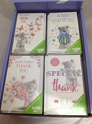 Pack Of 8 Thank You Notelets And Envelopes Greetings Cards Simon Elvin Cute Bear