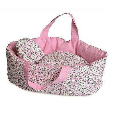 Egmont Soft Carry Cot with Flower Bedding for Doll - NKT