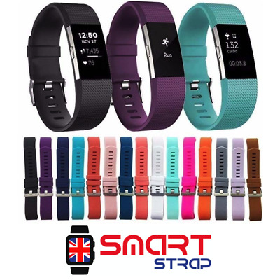 New Replacement Silicone Sports Watch Band Strap Bracelet For Fitbit Charge 2 UK