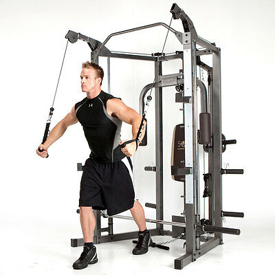 Marcy Smith Machine | SM-4008 Weight Training Circuit Cage System Home Gym Combo